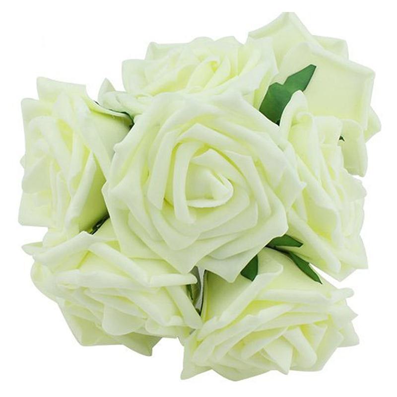 20 unids Aumentó La Cosecha de Flores De Espuma Artificial Flor Artificial Ramo