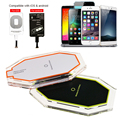 New 3 Induction Coil Universal Qi Wireless Charger Charging Pad with Qi Receiver for iPhone Samsung HTC LG Android Phone