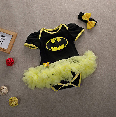 2016 Hot Batman Romper Dress for Newborn Baby's First Christmas Costumes Superman Batman Birthday Party Tutu Dress Bebe Vestido baby girl infant 3pcs clothing sets tutu romper dress jumpersuit one or two yrs old bebe party birthday suit costumes vestidos