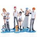 Anime Figuras de Ação Brinquedos Kurosaki Ichigo Kuchiki Rukia Aizen Sousuke Lixívia Hitsugaya Toushirou 8 pçs/set BLFG017