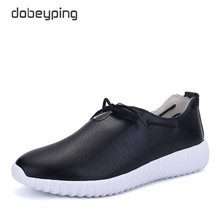 Casual Ballet Shoes Women Soft Real Leather Women's Loafers Slip On Female Flats Shoe Flexible Peas Footwear Solid White Black