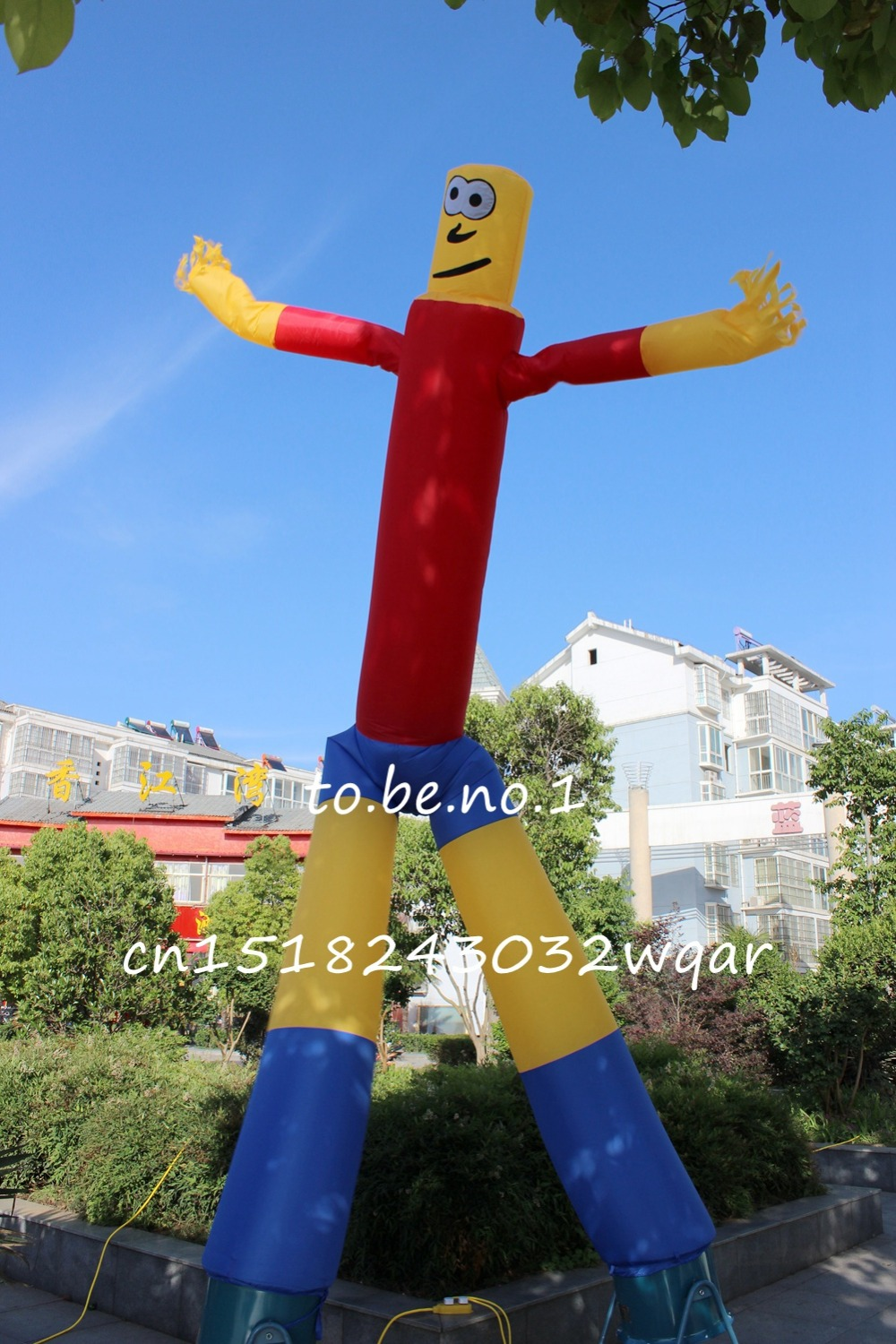 Inflatable Toys 6M 20FT Inflatable Tube Sky Dancer Air Dancer NO blower Inflatable Toys Shop ads sign S1007 ao058m 2m hot selling inflatable advertising helium balloon ball pvc helium balioon inflatable sphere sky balloon for sale