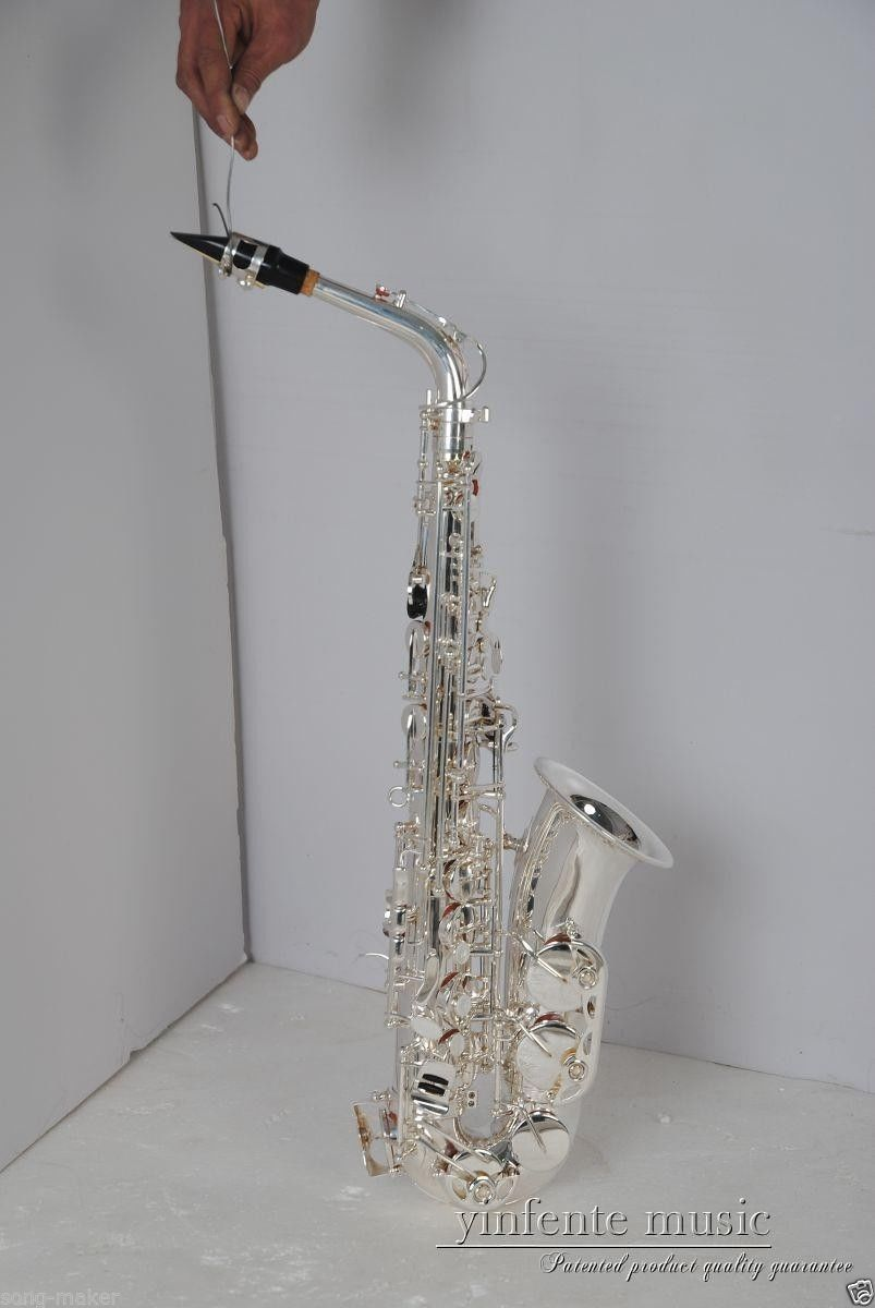 nickel plated alto sax saxophone high quality low price new in saxophone from sports. Black Bedroom Furniture Sets. Home Design Ideas