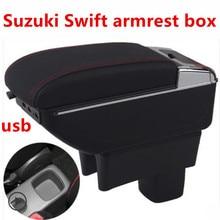 Для Suzuki Maruti DZire Swift подлокотник коробка центральный магазин содержание коробка с подстаканником пепельница украшения с USB интерфейс