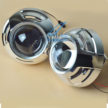 цена на New 3 Inches WST Bi Xenon Projector Lens Using H1 xenon lamp with shroud Easy Install for Most Car Headlight Retrofit Metal Type