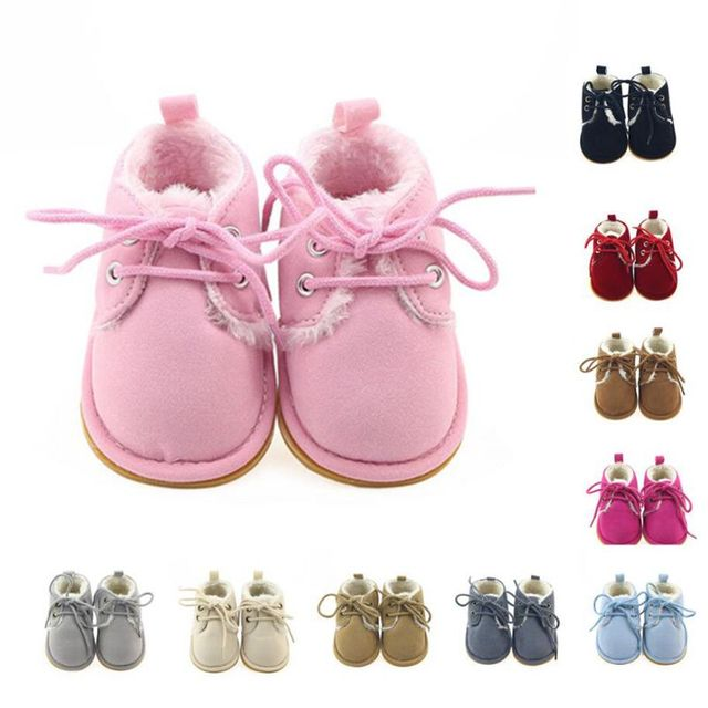Kids Boots Girls Sweet Newborn Baby Booty Toddler Soft Rubber Sole Outdoor  Winter Snow Booties Babe 5d23ba9e2d6a