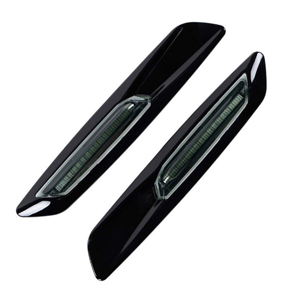 Side indicator lights smoke black 1 pair.
