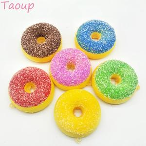Image 4 - Taoup 10pcs שרף שמנת קינוח מלאכותי סופגנייה מזון מזויף אבזר סוכריות סופגנייה עיצוב עבור טלפון שמח מסיבת יום הולדת דקור עבור בית
