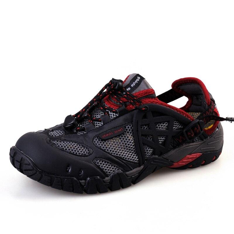 Hommes respirant Trekking Aqua chaussures homme eau chaussures de sport été randonnée en plein air baskets marche chaussures de pêche pas cher