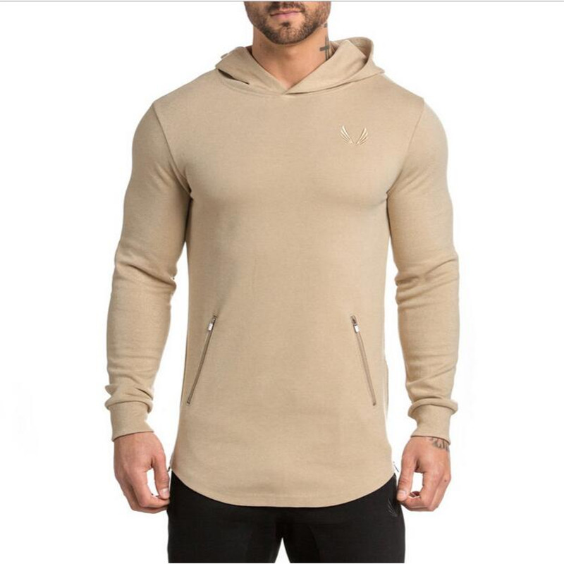 Mens Bodybuilding Hoodies Golds Gymwear Clothing Workout Slim Fit Shirts Hooded Suits Tracksuit Sportswear