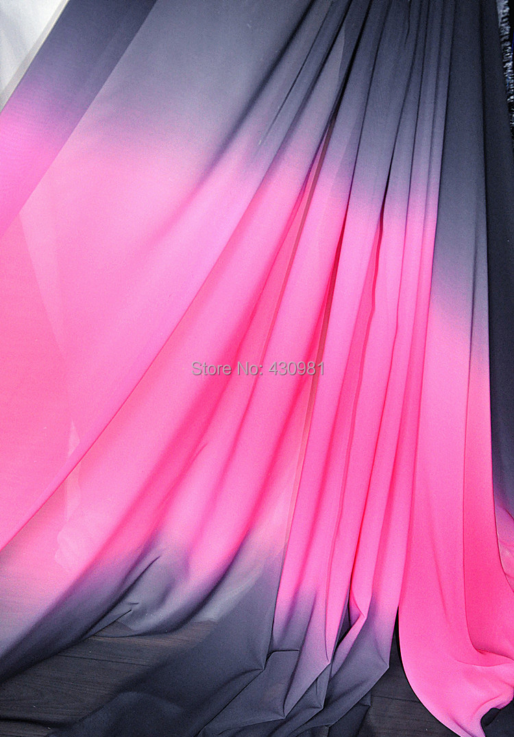 Wholesale 100d gradient chiffon material for fashion for Cheap clothing material