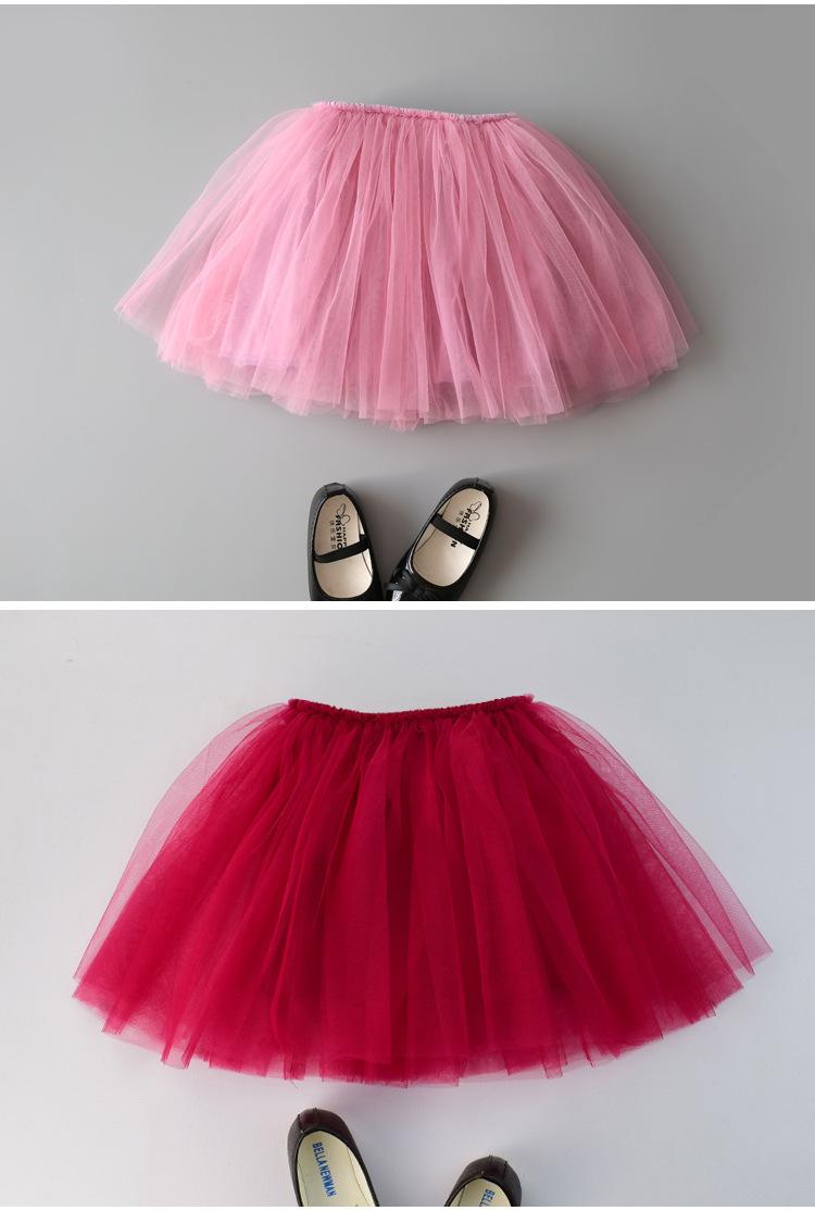 Baby Girls Tutu Skirts Pettiskirt Kids Tulle Skirt Children Underskirt Ballet Dance Petticoat Party Miniskirt Clothes Wholesale (16)
