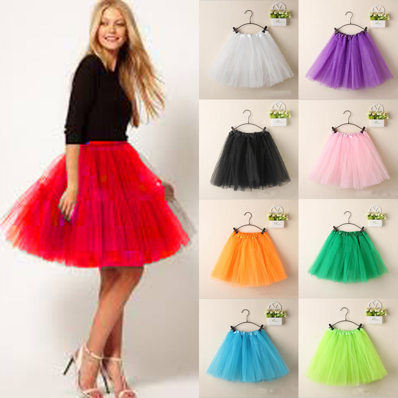 2019 Tulle Skirts Womens High Quality Elastic Stretchy Tulle Teen Layers Summer Womens Adult Tutu Skirt Pleated Mini Skirts