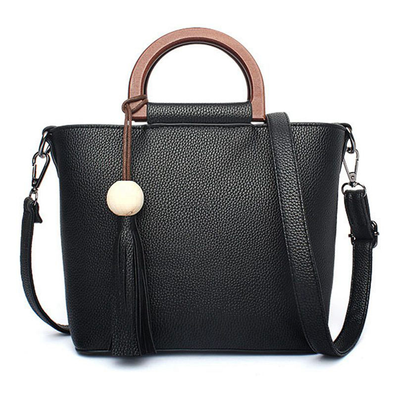 2017 Famous Brand Women Tassel Handbag Leather Handbags ladies Shoulder Bags Tote Bag female Retro Vintage Messenger PP-468 - Hangzhou YHZ Technology Co., Ltd store