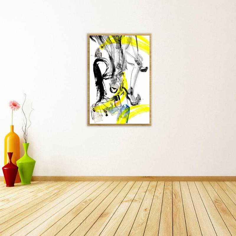 Frameless Abstract Fashion Young Oil Canvas Painting Wall Art Decorative Pictures Murals for Bedroom Living Room Home Decoration