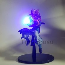 Dragon Ball Z Figuras de Ação Power Up Anime Dragon Ball Super Goku Gogeta Super Saiyan Vegeta DBZ Brinquedo Modelo de Fusão luzes Led(China)