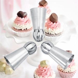 Image 2 - 3 Teile/satz Russische Blume Icing Friedliche Düsen Tipps Kuchen Dekoration Werkzeuge Küche Gebäck Cupcake Backen Gebäck Werkzeuge