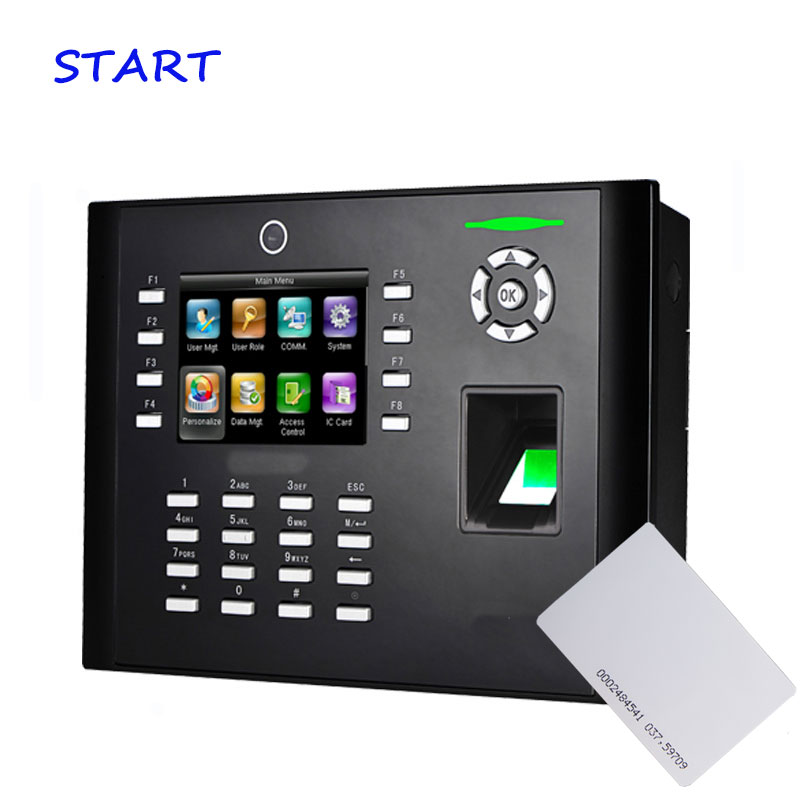 ZK IClock680 With 125Khz EM Card Fingerprint Time Attendance Biometric Access Control Terminal Door Locks Home Office Security