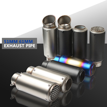 laser mark motorcycle modified muffler SC carbon fiber exhaust pipe For Yamaha Fazer600  FZ6S FZ6N FJ-09 FJR 1300/ES TDM 900 laser mark motorcycle modified muffler sc carbon fiber exhaust pipe for kawasaki gtr1400 concours h2 h2r monster zx9r