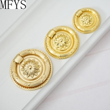 Vintage Style Dresser Pull Drop Ring Drawer Knobs  Handle Gold Victorian Kitchen Cabinet Knob  Antique Furniture Knobs Rings цена 2017