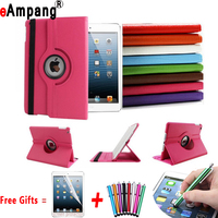 Free Shipping 360 Rotation PU Leather Cases For Apple IPad Air Smart Cover Case Ipad 5