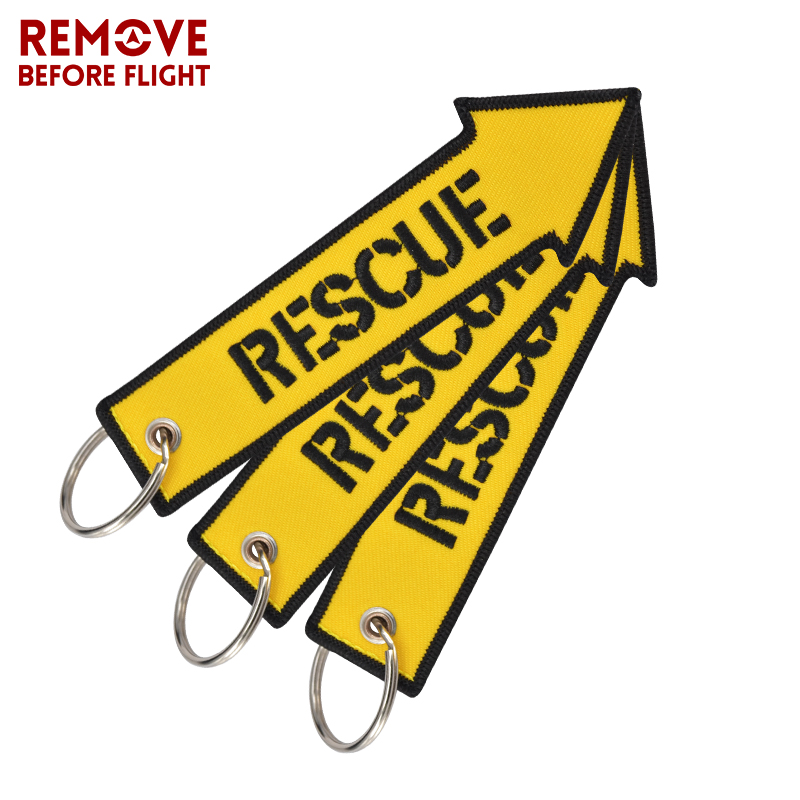 3PCS/Lot Remove Before Flight Key Chain for Cars Luggage Tag Keychain Motorcycles Rescue Embroidery Key Fob OEM Keyring