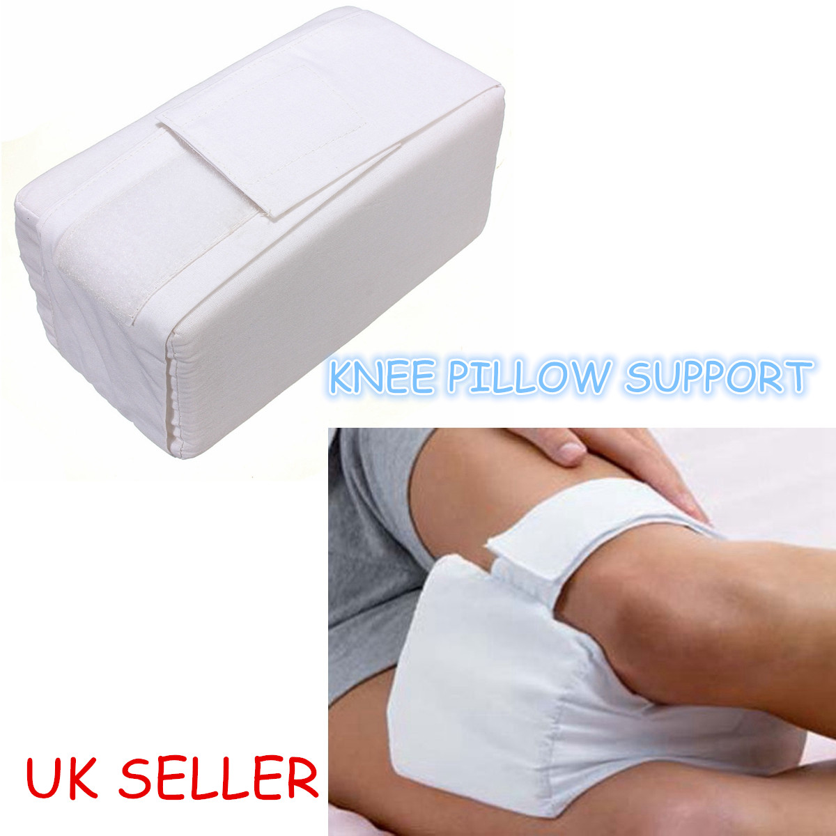 Knee Ease Pillow Cushion Comfort Bed Sleeping Aid Seperate Back Leg Pain Support ...