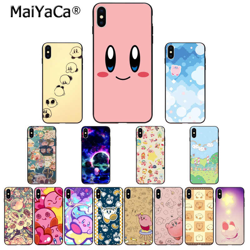 MaiYaCa Game Kirby Series Soft Silicone TPU Phone Cover for Apple iPhone 8 7 6 6S Plus X XS MAX 5 5S SE XR Cover