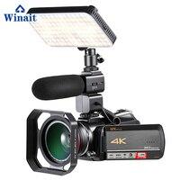 Winait wifi цифровая видеокамера UHD (4 К): 3,0*2160 (DAR 24fps) с 3840 ''TFT дисплей и 12x оптический зум Высокое качество видеокамеры