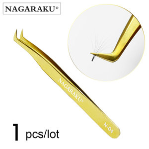 Image 4 - Nagaraku Roestvrijstalen Rechte Gebogen Nail Gereedschap Wimper Extension Nauwkeurige Pincet Tangen Wees Clip Set Makeup Tools
