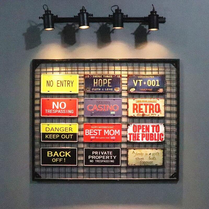 DL-Ретро стены надписи номерной знак личности украшения Бар Паб Творческий Стене Висят Знаки