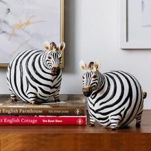 Creative חמוד שמנים זברה בציר פסל בית מלאכת עיצוב חדר אובייקטים חיות בר משרד שרף צלמיות חתונה מתנות