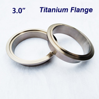 3.0 inch Titanium V Band clamp Flange Titanium alloy exhaust pipe flange with groove under the pipe