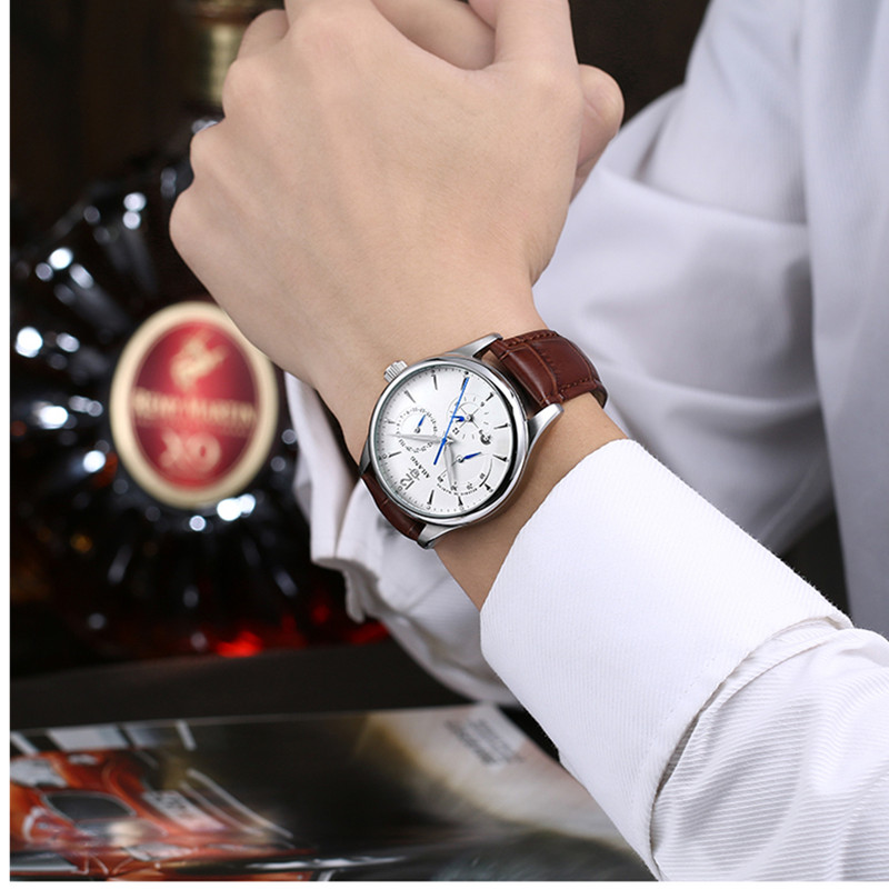 AILANG Mens Watch Automatic Mechanical Watches Luxury Luminous Watches Men Waterproof Genuine Leather Wrist Watch 41MM RelogioAILANG Mens Watch Automatic Mechanical Watches Luxury Luminous Watches Men Waterproof Genuine Leather Wrist Watch 41MM Relogio