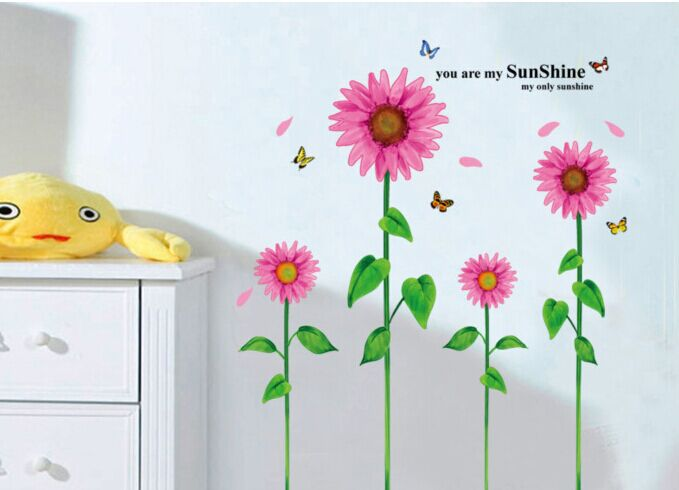 YOU ARE MY SUNSHINE Vinyl Sunflower Home Wall Art Decals Kids Room - Wall decals you are my sunshine