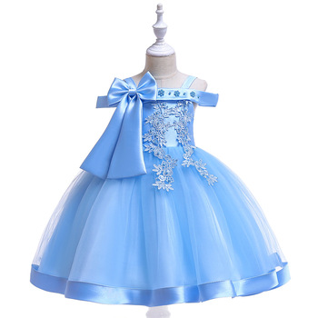 Latest  Flower Girl Birthday Dresses tulle Lace Applique Kids Girls Pageant Dresses Party Gowns white cheap flower girls dresses scoop neck girls pageant dresses organza beads kids party gowns 2019