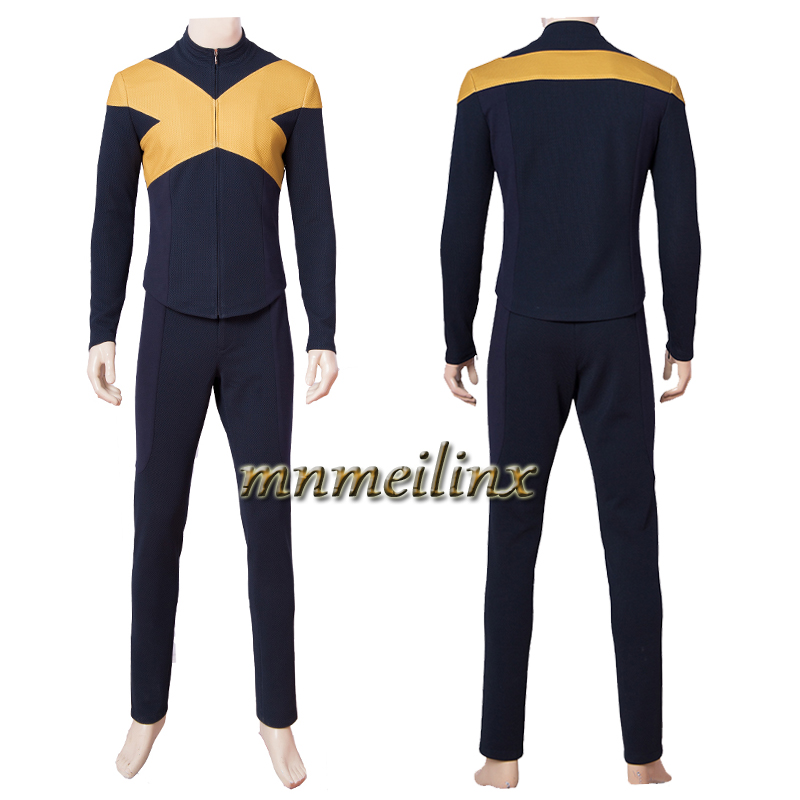 Costum Made Superhero Outfit X-Men:Dark Phoenix Cyclops Scott Summers Cospaly Costume Top+Pants Halloween Unisex Any Size Suit