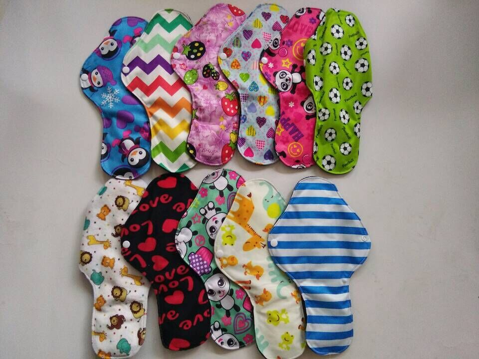 Naughtybaby night use reusable menstrual pads for heavy flow large size breathable women cloth pads Free