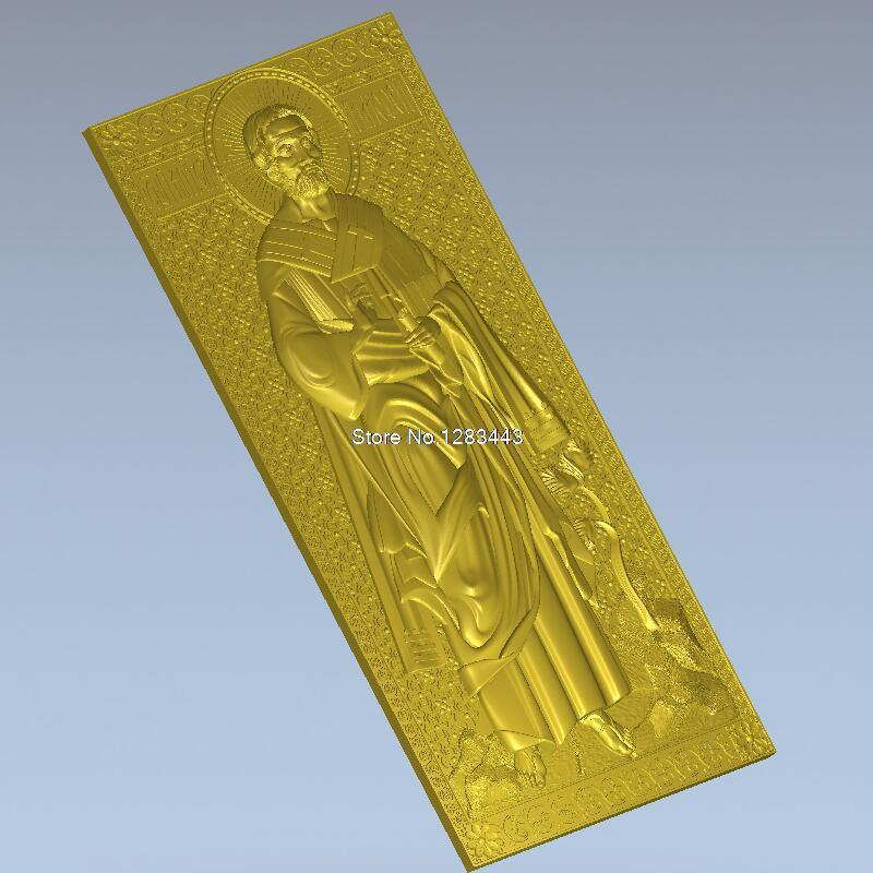High quality 3d model relief  for cnc or 3D printers in STL file Holy Apostle Timothy cnc panno face 1 in stl file format 3d model relief for