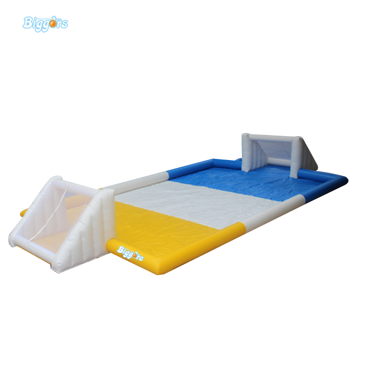 Cheap Portable Small Inflatable Water Soccer Football Field for Kids free shipping juegos inflables 16x8 meters inflatable soccer field football court with pvc material for kids