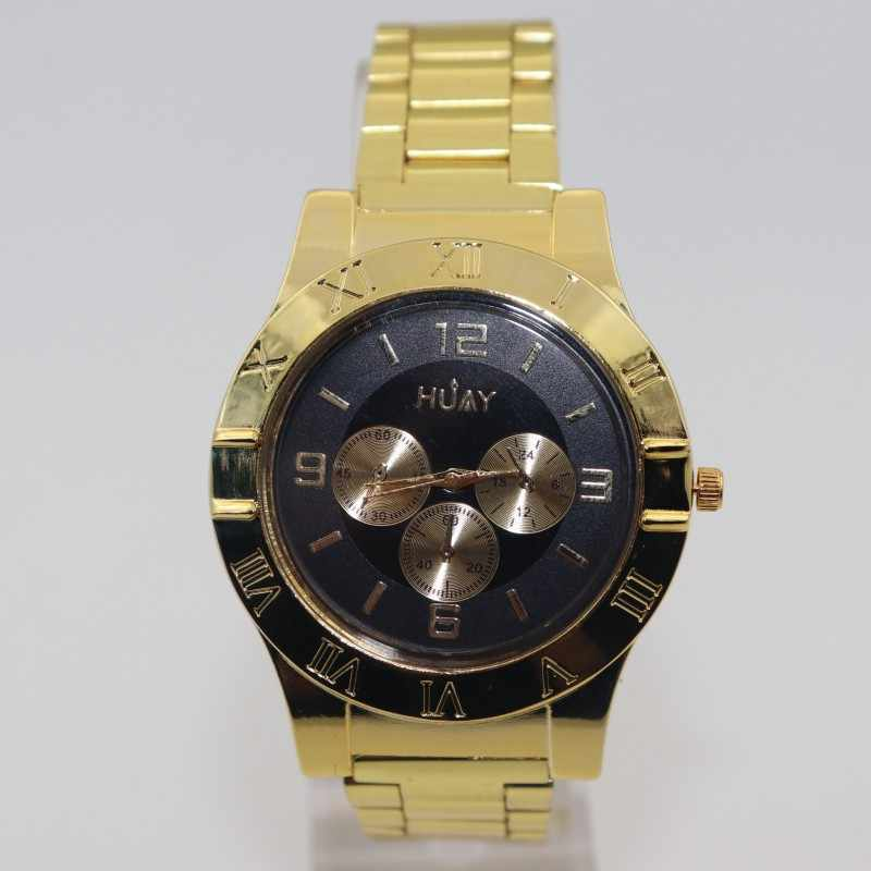מצית שעון גברים USB לטעינת מצית קוורץ שעון נירוסטה ספורט זהב רצועת שעוני יד גברים מתנה F780