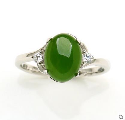 Und Tian Biyu RING 925 silber inlay spinat grüne jasper eiernudeln Mens Echtes Silber Ring Ring Versenkbare-in Ringe aus Schmuck und Accessoires bei  Gruppe 2