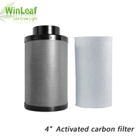Grow Tent 4inch activated carbon filter CARBON AIR FILTER For indoor Plants Tents HPS/MH/LED Grow Lighting