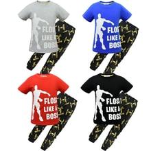 Купить с кэшбэком Kids Floss Like a Boss Ninjago Gaming Summer Cotton Short Pyjamas Youth Boys pajamas Children clothing set Boy pijamas PJS 4-13Y