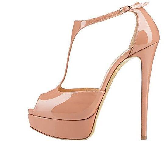strap High Heel Shoes Woman Cutouts