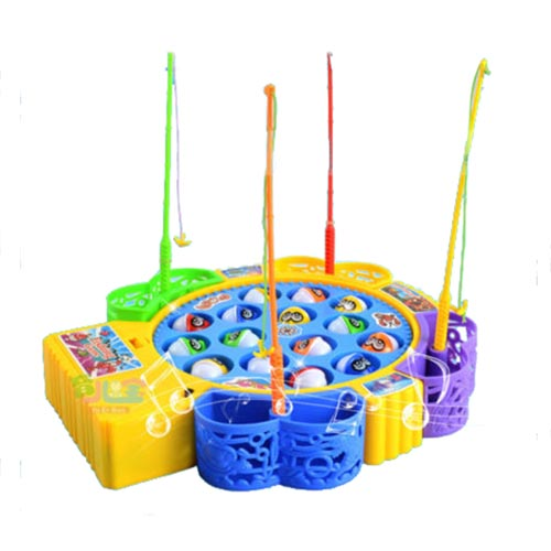 Kids Children Fun Time Creative Rotating Fishing Music Game Developmental Toy