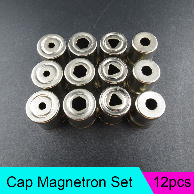 12pcs Microwave Oven Magnetron Steel Antenna Cap Magnetron for Galanz Midea Haier 4 Models Microwave Oven Replacement Parts