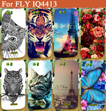 High Quality printing SOFT TPU flowers animals Eiffel Towers Cover pattern Case For Fly IQ 4413 IQ4413 Evo Chi 3 with 14 Style