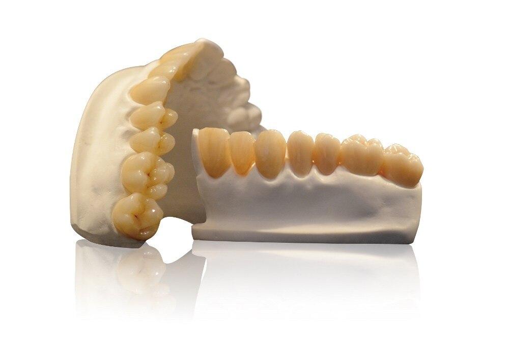 6 krāsu slāņu zobu priekšējais cirkonijs Zirkon Zahn CAD CAM - Mutes higiēna - Foto 3