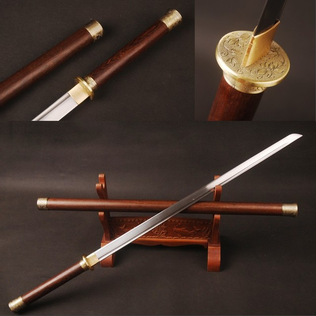 Aliexpress.com : Buy Rosewood Round Handle Chinese Sword ...
